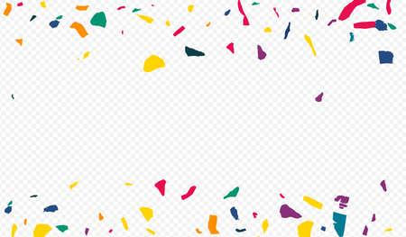 Color Colored Paper Christmas Transparent Background. Celebrate Elements Illustration. Fun Confetti Pattern. Yellow Paint Decoration Backdrop. Illusztráció
