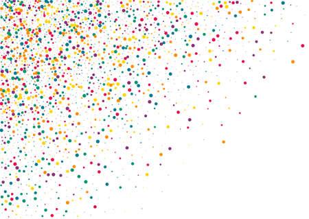 Rainbow Dot Transparent White Background. Effect Circle Pattern. Independence Shine Postcard. Green Splash Abstract Illustration. Illusztráció