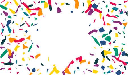 Rainbow Elements Celebrate White Background. Invitation Smear Pattern. Independence Colored Paper Card. Orange Paint Transparent Banner. Illusztráció