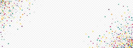 Orange Shine Flying Panoramic Transparent Background. Celebration Splash Backdrop. Fun Round Card. Green Rain Happy Pattern.