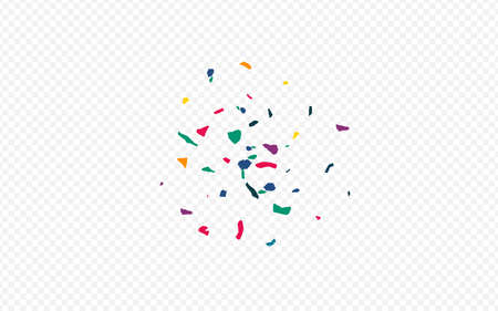 Color Confetti Flying Transparent Background. Celebrate Smear Card. Celebration Particles Banner. Green Paint Carnival Backdrop.