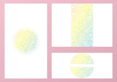 Metal Style Set Background. Iridescent Design Pattern. Hologram Texture. Foil Geometric Invitation.