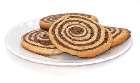 black and white cookies on the plate