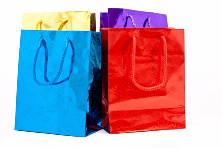 gift colorful shopping bags  Stock Photo