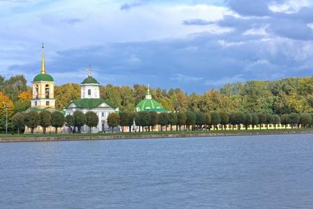 Kuskovo.Church of the Merciful Saviour.  Stock Photo
