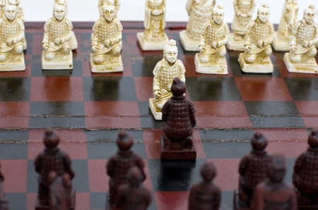 old Chinese chess, beginning of the game  photo