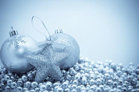 Christmas decorations selenium tone