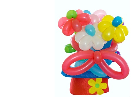 balloons flowers in a clown hat