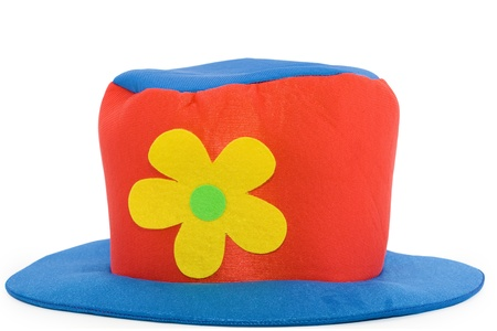 clown hat over white background