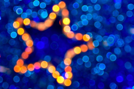 christmas star boke abstract background  Stock Photo