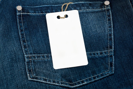 jeans texture with empty label for your text
