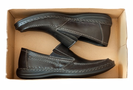 men s shoes in a box