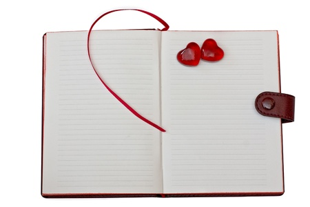 notebook with hearts