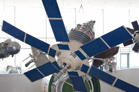 communication satellite  Lightning  in space exploration museum in Kaluga, Russia
