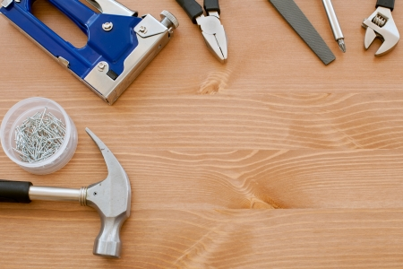 tools on the wood Stock Photo - 13611696