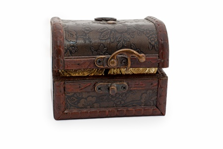 treasure chest  toy  isolated on white  Stock Photo