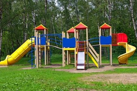 children s playground in the park  photo