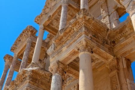 ancient library in Ephesus Stock Photo