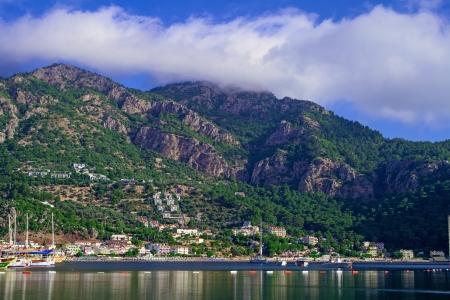 Turunc bay, Aegean sea and mountains, Turkey