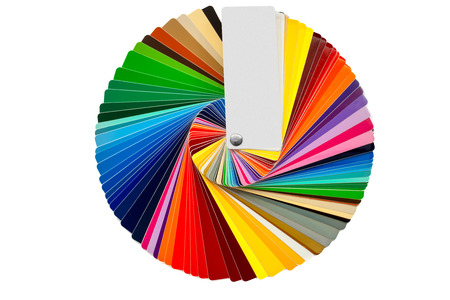 color samples isolated over white Stock Photo