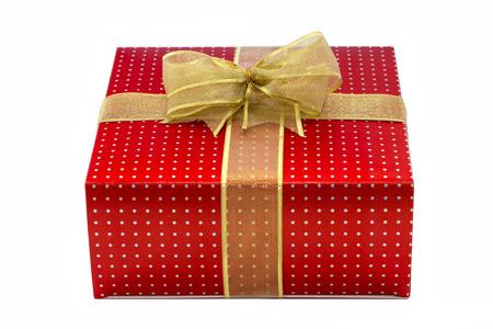 present box isolated over white Stock Photo
