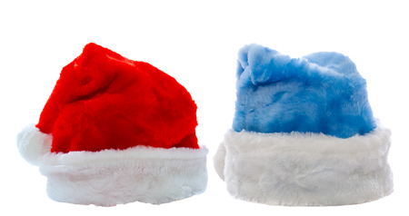 Santa Claus hats isolated over white