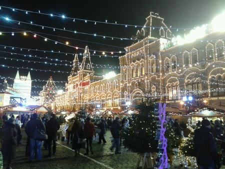 Christmas fair at Red Square Moscow
