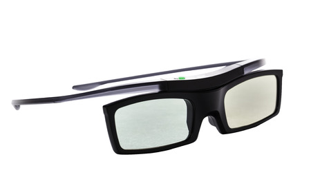 3d glasses, active, isolated over white