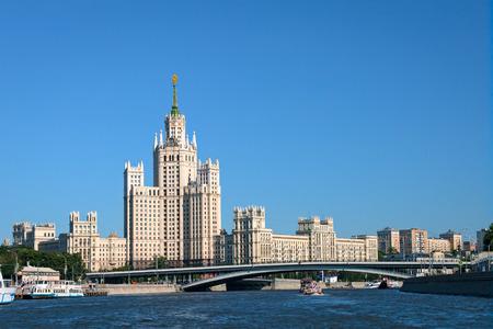 kotelnicheskaya embankment: Kotelnicheskaya Embankment Building, on of seven skyscrapers in Moscow designed in the Stalinist style