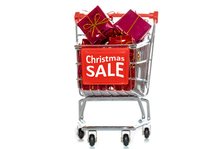Christmas sale shopping cart