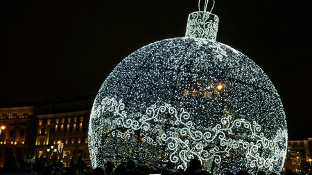 Christmas decoration in Moscow, Manegnaya square.