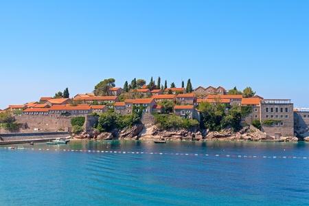 Sveti Stefan island-hotel in Montenegro