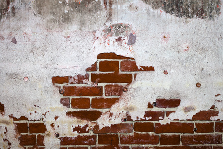 red brick with plaster background texture