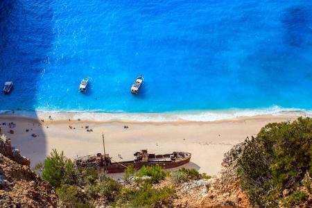view of Navagio beach in Zakynthos photo