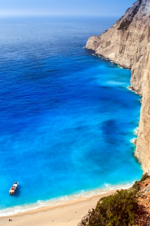 view of Navagio beach in Zakynthos photo