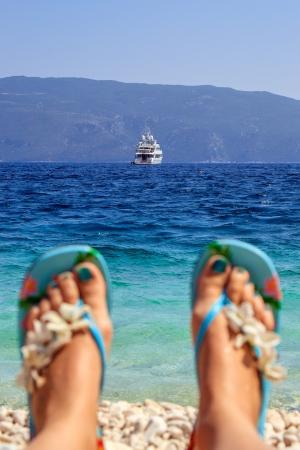 beach holiday in Kefalonia, Greece photo