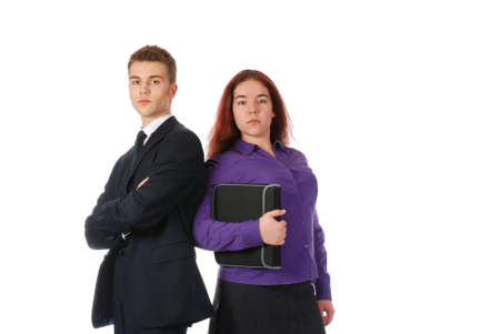 auditors: Two young and serious business partners