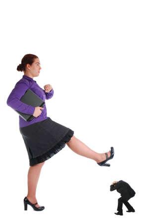 One girl crushing her bad boss photo