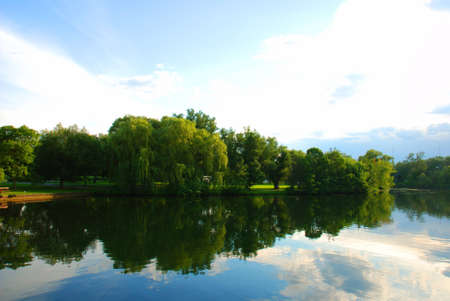 Picture of one park near the lake Stockfoto