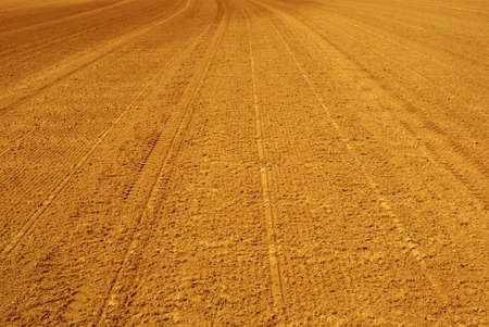 Bright and wide road of sand