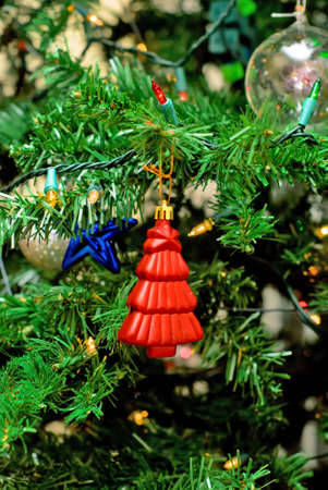 Bright toys hanging on the Christmas Tree Stock Photo - 5711443