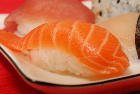 Picture of closeup of sushi piece