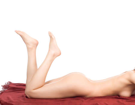 Sexy legs of one woman lying on the floor Stock Photo - 6385572