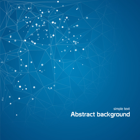 Abstract blue background with lines and circles