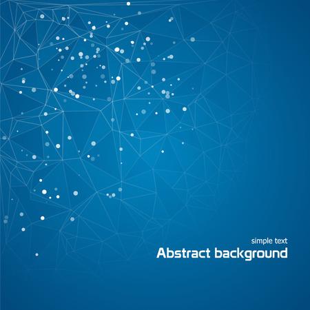 Zusammenfassung blauem Hintergrund mit Linien und Kreise Standard-Bild - 43932049