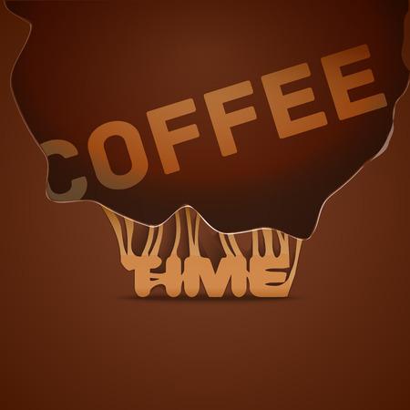 최신 유행 스타일의 커피 배경 일러스트