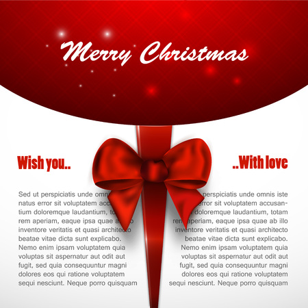 xmas background: Merry christmas background invitation, xmas card vector