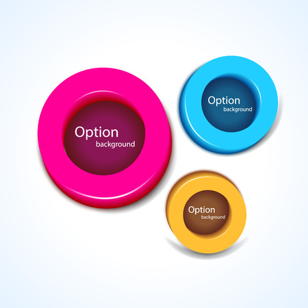 buttons vector: Abstract background, buttons vector illustration