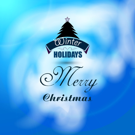 xmas background: Christmas beautiful background with xmas tree vector Illustration