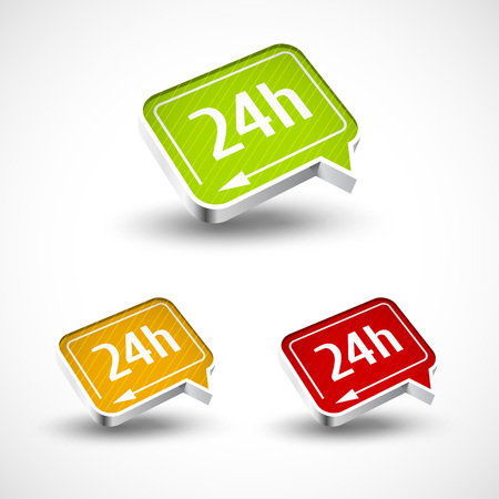 24h: 24h icon for your buseness and designs vector